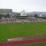 Le Corbusier à Firminy, Eglise St-Pierre et le Stade vus de la maison de la culture