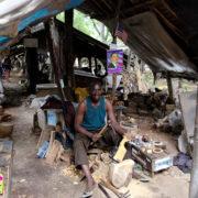 Kenya, Mombasa, Dans le village d'artisans