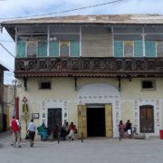 Kenya, Mombasa, L'ancienne poste devant le vieux port
