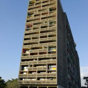 Le Corbusier, La maison radieuse de Rezé, Facade sud