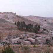 Chateau de Shaubak au crépuscule