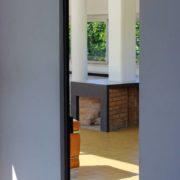 Le Corbusier, la villa Savoye, Porte salon-vestibule