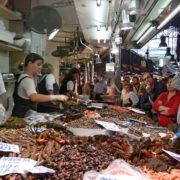 Barcelone, quartier des Remblas,Le marché de la Boqueria