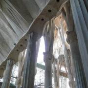 Barcelone, Sagrada Familia, Travaux en cours - Nef intérieure