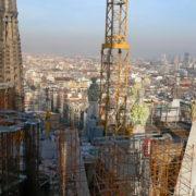 Barcelone, Sagrada Familia, montée dans les tours de la façade de la Passion