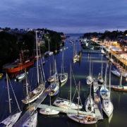 Port de Douarnenez à la tombée de la nuit