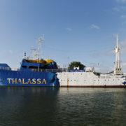 le navire Thalassa, ancien navire océanographique de l'IFREMER