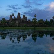 Crépuscule sur Angkor Vat