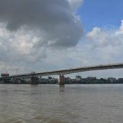 Arrivée sur le Mékong à Phnom Penh