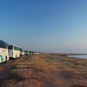 Fin de séjour à Hurghada. Convoi longeant la Mer Rouge départ vers le Caire