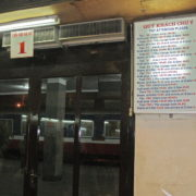 A la gare, départ en train de nuit vers Hue